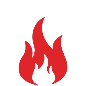 Fire Restoration Icon Consisting of Flames