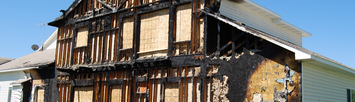 fire damage restoration before