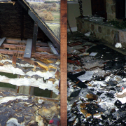 Emergency fire damage restoration