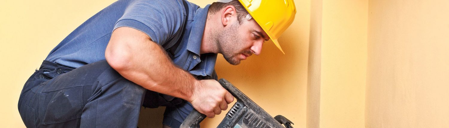 Construction Man with Power Tool